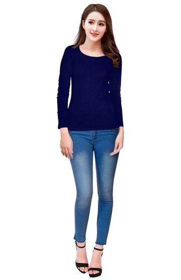 POONAM TEXTILE | Blue Casual T-shirt