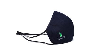 Bottle&Co | Enviro Blue: Black rPET Sustainable Facemask