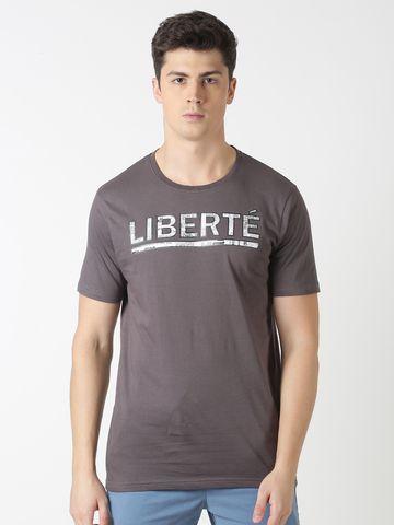 Blue Saint   Blue Saint Men's Printed Grey T-Shirt