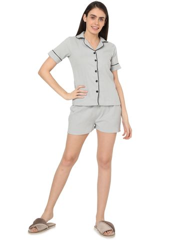 Smarty Pants | Smarty Pants women's blue & white stripe printed night suit