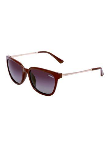 ENRICO   ENRICO Honey Dew Polycarbonate UV Protected Wayfarer Shape Sunglasses for Women ( Lens - Purple   Frame - Brown)