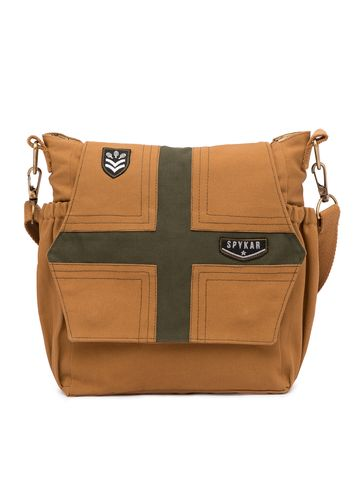 spykar | Spykar Khaki Canvas Messenger Bag