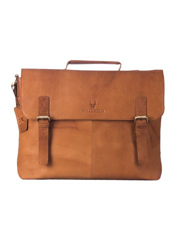 WildHorn | WildHorn 100% Genuine Leather Tan Laptop Bags for Men