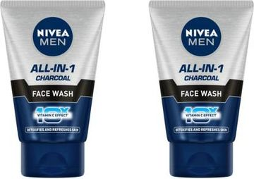 Nivea | NIVEA All in 1 Charcoal Face Wash (Pack of 2)