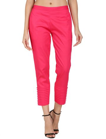 DEVS AND DIVAS | DEVS AND DIVAS Magenta Pintex Pant Trouser For Women
