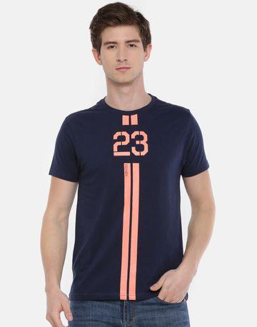 Steenbok | Men's Navy Printer Crew Neck T-Shirt