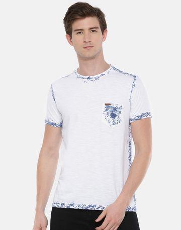 Steenbok | Men's White Tie and Dye Crew Neck T-Shirt