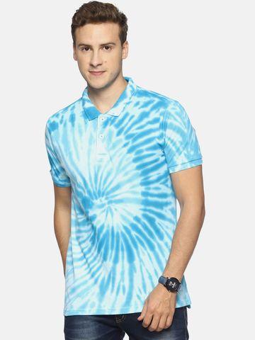 Steenbok | Steenbok Men's Blue Floral Polo T-Shirt
