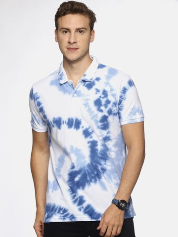 Steenbok | Steenbok Men's White Navy Floral Polo T-Shirt