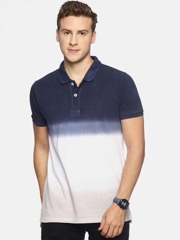 Steenbok | Steenbok Men's Navy Dip Dye Polo T-Shirt