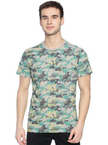 Steenbok | Steenbok Mens Grey AOP Crew Neck T-Shirt