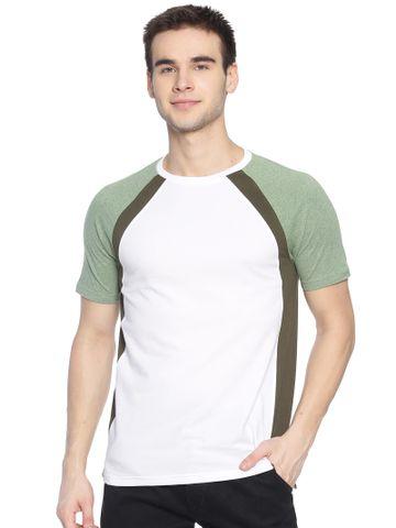 Steenbok | Steenbok Mens White Raglan Crew Neck T-Shirt