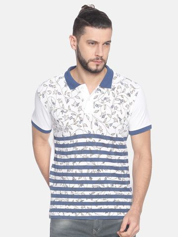 Steenbok | Men's stripe printed polo t-shirt