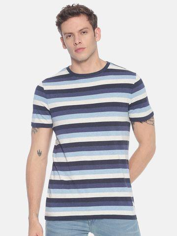 Steenbok   Men's Striped Basic t-shirt