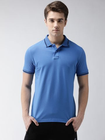 Steenbok | Men's Blue Polo Odour-Free T-Shirt
