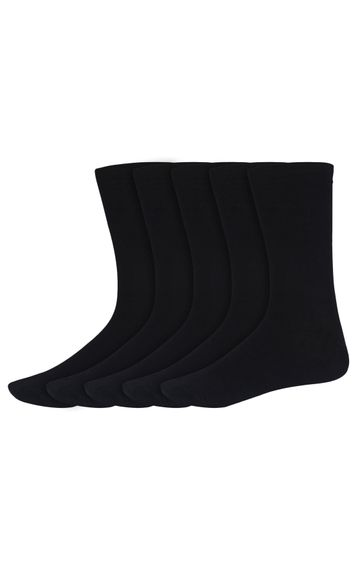 SIDEWOK   SIDEWOK Calf Length Solid Multicolour Cotton Socks for Men (Pack of 5 Pairs)