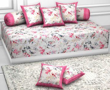 Pinkblock.in | Snowy Diwan Set