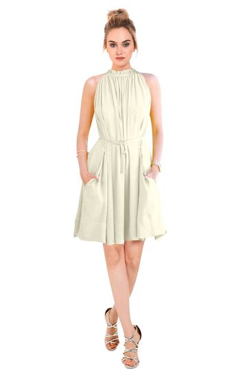 POONAM TEXTILE | Western White Solid Party Wear Dress