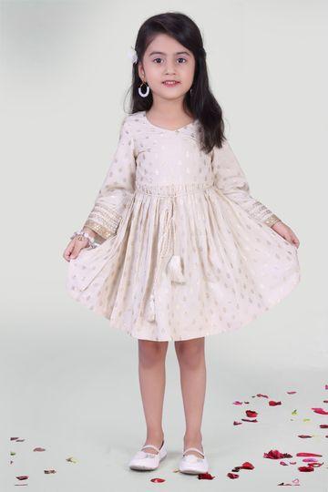 MINI CHIC | Offwhite Summer Dress for Girls