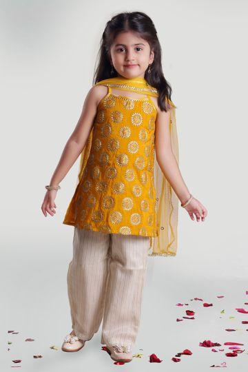 MINI CHIC | Girls Kurta and Pant Set with Dupatta