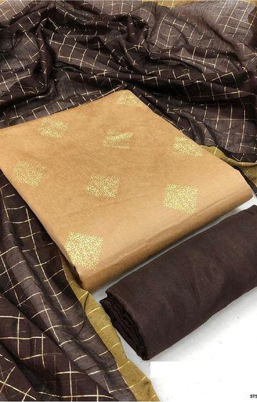 SATIMA   Beige South cotton Dress Material