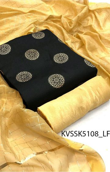 SATIMA | Black South cotton Dress Material