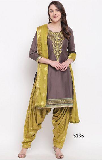SATIMA   Grey Cotton Blend Dress Material