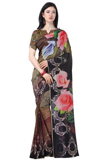 SATIMA | Multi Linen Cotton Printed Saree