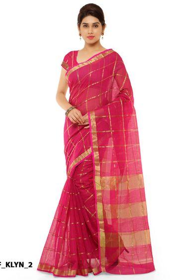 SATIMA | Pink Cotton Silk Printed Saree