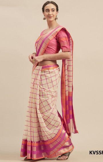 SATIMA   Yellow Cotton Silk Printed Saree