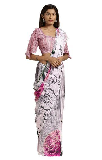 SATIMA | Multi Poly Georgette Floral Print Saree