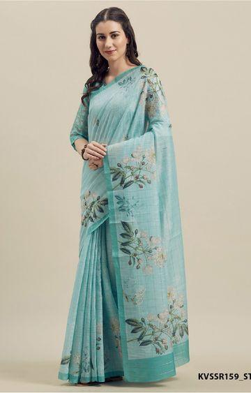 SATIMA | Linen Cotton Print and Weaving Saree