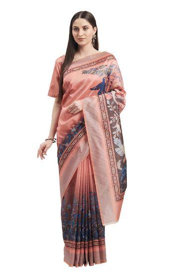 SATIMA | Multi Silk Blend Floral Print with Tassels