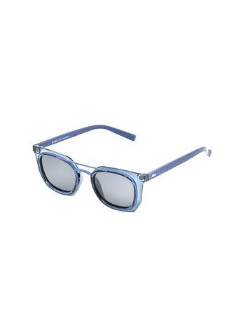 ENRICO | ENRICO Wayver UV Protected Wayfarer Unisex Sunglasses ( Lens - Blue | Frame - Blue)