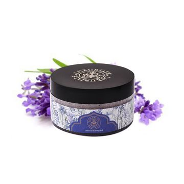 LUXURIATE | LUXURIATE Lavender Bathing Salt Enriched With Essential Oil and Lavender Buds, For Bath,Foot, Aching Muscles & Refreshing Body Preservatives Free,150 gm