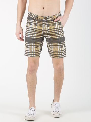 Blue Saint | Blue Saint Men's Checked Multi  Shorts