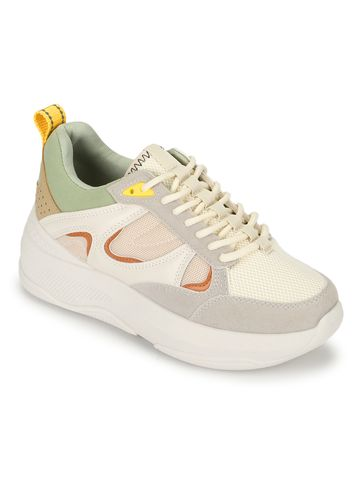 Truffle Collection | Truffle Collection Multicolor PU Lace-Up Chunky Sneakers