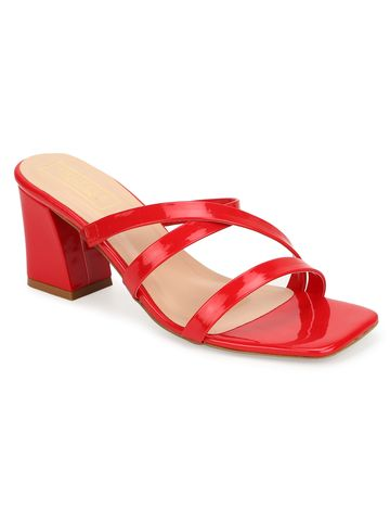 Truffle Collection | Truffle Collection Red Patent Strappy Sandals