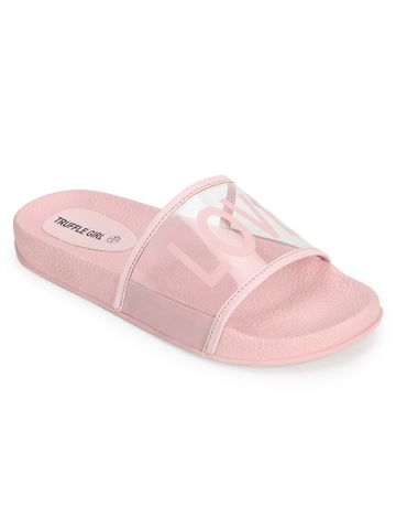 Truffle Collection | Clear Pink PU Slip Ons