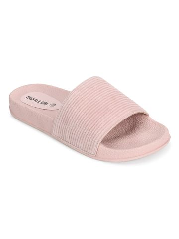 Truffle Collection | Pink Corduroy Slip Ons