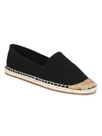 Truffle Collection | Truffle Collection Black Canvas Slip On Shoes