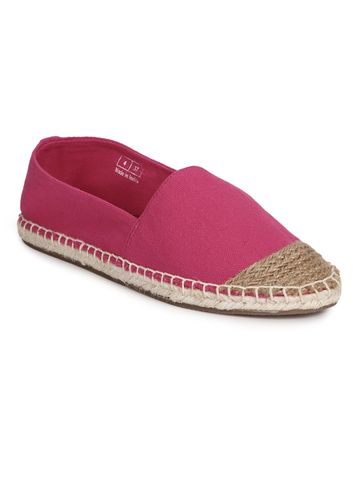 Truffle Collection | Truffle Collection Fuschia Canvas Slip On Shoes