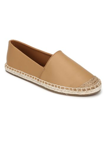 Truffle Collection | Truffle Collection Nude Canvas Slip On Shoes