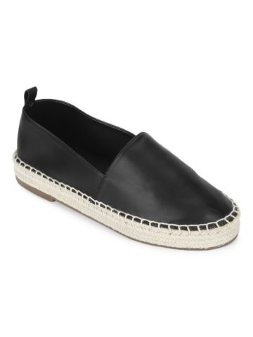 Truffle Collection | Truffle Collection Black PU Slip On Loafers