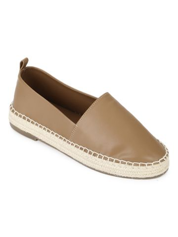Truffle Collection | Truffle Collection Nude PU Slip On Loafers