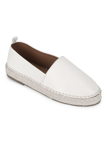 Truffle Collection | Truffle Collection White PU Slip On Loafers