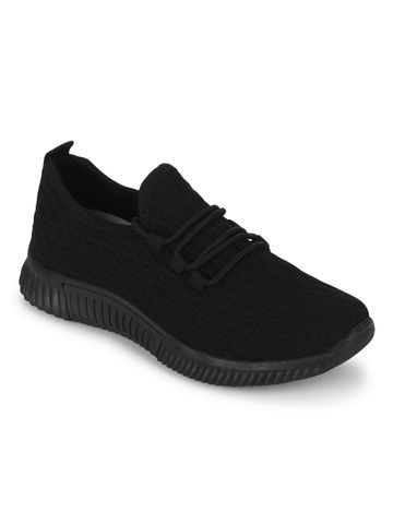 Truffle Collection   Truffle Collection Black Knitted Slip On Sneakers