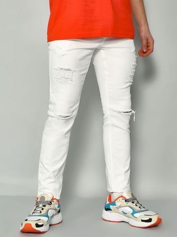 Blue Saint | Blue Saint Men's White Slim Fit Jeans