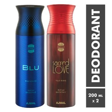 Ajmal | Blu Homme and Sacred Love Deodorant Spray - Pack of 2