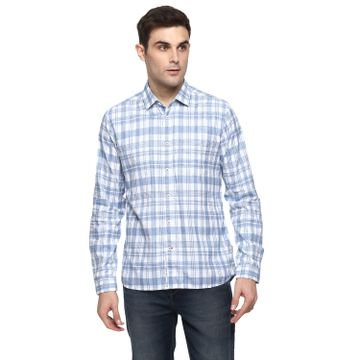 RED CHIEF | Red Chief Men Checked Casual Shirt (White)